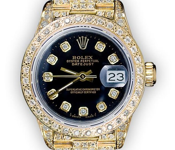 Full Pave Super President (418) Factory Diamonds Sticker Price over $40,000 Our Price: $11,500